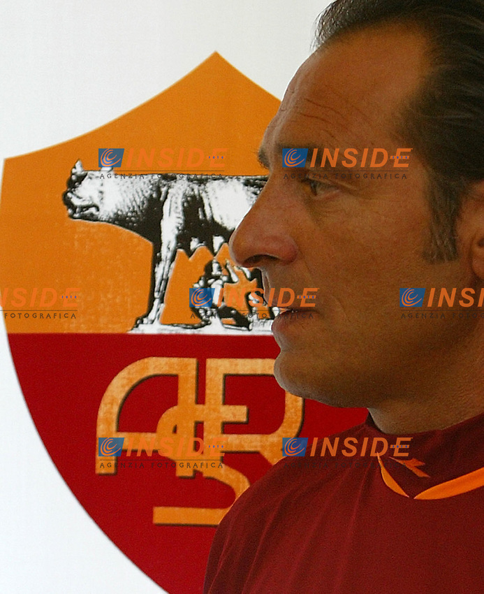 Roma 14/7/2004 <br /> Conferenza stampa dell'allenatore dell'AS Roma Cesare Prandelli nel centro sportivo di Trigoria.<br /> Cesare Prandelli AS Roma Trainer<br /> Photo Andrea Staccioli Insidefoto