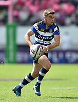 George Ford of Bath Rugby in possession. European Rugby Challenge Cup Semi Final, between Stade Francais and Bath Rugby on April 23, 2017 at the Stade Jean-Bouin in Paris, France. Photo by: Patrick Khachfe / Onside Images