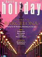 Travel Holiday Magazine, Barcelona, SpainCover and Story