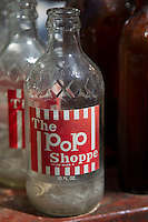 old glass Pop shoppe bottle