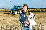 Enjoying  the Abbeydorney Ploughing Match  at Corridan's Farm, Ballysheen on Sunday was Niamh Dineen from Ballyheigue with Toby
