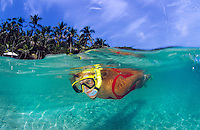 Snorkeler<br /> Cooper Island<br /> British Virgin Islands