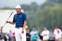 Jordan Spieth waits to putt on the 18th green during the 2016 U.S. Open in Oakmont, Pennsylvania on June 16, 2016. (Photo by Jared Wickerham / DKPS)