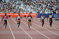 The Womens 200m race at the Sainsbury Anniversary Games, Olympic Stadium, London England, Saturday 27th July 2013-Copyright owned by Jeff Thomas Photography-www.jaypics.photoshelter.com-07837 386244. No pictures must be copied or downloaded without the authorisation of the copyright owner.