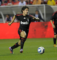 AC Milan forward Alexandre Pato (7) speeds toward the Fire goal.  AC Milan defeated the Chicago Fire 1-0 at Toyota Park in Bridgeview, IL on May 30, 2010.
