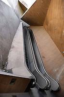 La Granja escalators, 2000, built by José Antonio Martinez Lapeña (Tarragona, Spain, 1941) and Elías Torres Tur (Ibiza, Spain, 1944), Toledo, Castilla la Mancha, Spain. Picture by Manuel Cohen