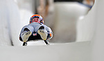 7 February 2009: Tonnes Stang Rolfsen slides for Norway in the Men's Competition at the 41st FIL Luge World Championships, in Lake Placid, New York, USA. .  .Mandatory Photo Credit: Ed Wolfstein Photo