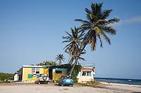 Anguilla, British West indies, Caribbean - Palm grove beach shack the lunch spot on the beach in Savannah bay.