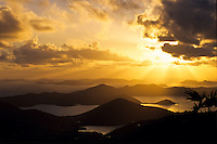 Sunrise from Bordeaux Mountain <br />