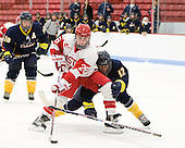 Louise Warren (BU - 28), Kayla Dodson (Windsor - 12) - The Boston University Terriers defeated the visiting University of Windsor Lancers 4-1 in a Saturday afternoon, September 25, 2010, exhibition game at Walter Brown Arena in Boston, MA.