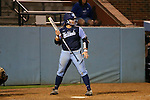 CHAPEL HILL, NC - FEBRUARY 24: UNC's Berlynne Delamora. The University of North Carolina Tar Heels played the Towson University Tigers on February, 24, 2017, at Anderson Softball Stadium in Chapel Hill, NC in a Division I College Softball match. UNC won the game 6-5 in nine innings.