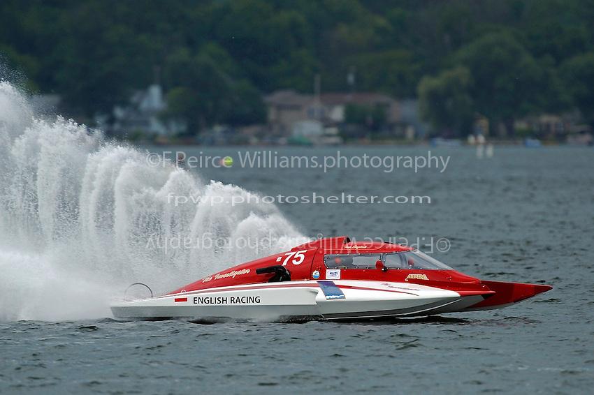 """Tom Thompson, E-75, """"The Investigator""""  (5 Litre class hydroplane(s)"""