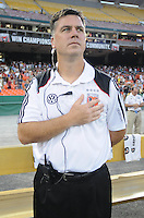 DC United assistant coach Kris Kelderman.  The Columbus Crew defeated DC United 1-0 at RFK Stadium, Saturday September 4, 2010.