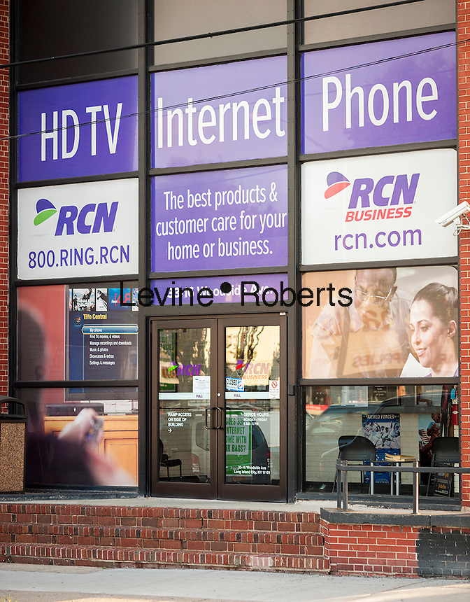 RCN offices in Woodside, Queens in New York on Monday, August 15, 2016. The private-equity firm TPG will buy RCN Telecom Services for $1.6 billion and Grande Communications for $650 million. Both cable providers are being bought from Abry Partners LLC and Google Capital is buying a minority stake in both companies. (© Richard B. Levine)
