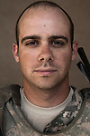 SGT Josh Pauquette. Scio, Oregon. 24. Charlie Co. 1st Battalion 12th Infantry Regiment, 4th Infantry Division. Photographed at Combat Outpost JFM in Zhari District, Kandahar, Afghanistan.