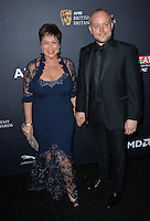 BEVERLY HILLS, CA. October 28, 2016: Denise Welch &amp; Lincoln Townley at the 2016 AMD British Academy Britannia Awards at the Beverly Hilton Hotel.<br /> Picture: Paul Smith/Featureflash/SilverHub 0208 004 5359/ 07711 972644 Editors@silverhubmedia.com