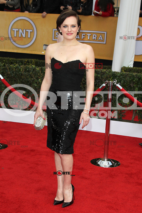LOS ANGELES, CA - JANUARY 27: Elisabeth Moss at The 19th Annual Screen Actors Guild Awards at the Los Angeles Shrine Exposition Center in Los Angeles, California. January 27, 2013. Credit: mpi27/MediaPunch Inc. /NortePhoto /NortePhoto