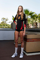 10 August 2010:  #8 Lauren Williams MB  on the Pac-10 NCAA College Women's Volleyball team for the USC Trojans Women of Troy photographed at the Galen Center on Campus in Southern California. .Images are for Personal use only.  No Model Release, No Property Release, No Commercial 3rd Party use. .Photo Credit should read: &copy;2010ShellyCastellano.com