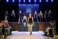 Melanie Child, New Zealand Eco Fashion Exposed, Eco Designer Runway at Notre Dame Performing Arts Centre, Lower Hutt, New Zealand on Saturday 26 July 2014. <br /> Photo by Masanori Udagawa. <br /> www.photowellington.photoshelter.com.