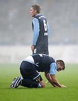 Fussball 2. Bundesliga:  Saison   2012/2013,    14. Spieltag  TSV 1860 Muenchen - 1. FC Koeln  16.11.2012 Guillermo Vallori und Dominik Stahl  (v. li. 1860 Muenchen)