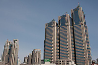The complete Tokyo Metropolitan Government building complex  in Shinjuku, Tokyo, Japan Sunday Sunday, January 20th 2008 Tokyo