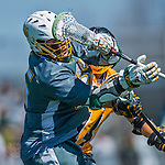 16 April 2016: University of Vermont Catamount Midfielder Ian MacKay, a Junior from Port Elgin, Ontario, in action against the University of Maryland, Baltimore County Retrievers at Virtue Field in Burlington, Vermont. The Catamounts defeated the Retrievers 14-10 in NCAA Division I play. Mandatory Credit: Ed Wolfstein Photo *** RAW (NEF) Image File Available ***