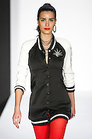 Natalia walks runway in a bebeBlack Fall 2011 outfit, at the Style 360 Fall 2011 fashion show, during New York Fashion Week.