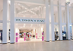 Hudson's Bay store front sign at Yorkdale shopping center, Toronto, Ontario, Canada 2014.