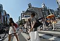 Summer heat bakes Tokyo