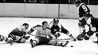 Seals Norm Ferguson with North Stars                (1971 photo/Ron Riesterer)