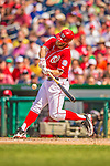 27 July 2013: Washington Nationals outfielder Bryce Harper in action against the New York Mets at Nationals Park in Washington, DC. The Nationals defeated the Mets 4-1. Mandatory Credit: Ed Wolfstein Photo *** RAW (NEF) Image File Available ***