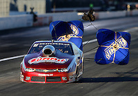 Nov 14, 2015; Pomona, CA, USA; NHRA pro stock driver Greg Anderson during qualifying for the Auto Club Finals at Auto Club Raceway at Pomona. Mandatory Credit: Mark J. Rebilas-USA TODAY Sports