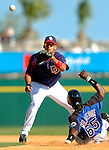 15 March 2006: Ian Desmond, infielder for the Washington Nationals, makes a play at second during a Spring Training game against the New York Mets. The Mets defeated the Nationals 8-5 at Space Coast Stadium, in Viera, Florida...Mandatory Photo Credit: Ed Wolfstein..
