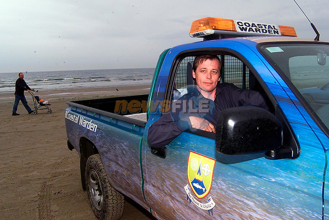 Martin Tonks, coastgaurd on Bettystown..Picture: Paul Mohan/Newsfile