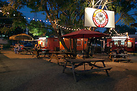 Austin food trailer court, surrounded by shops bars and live music venues offer a hip and vibrant part of Austin