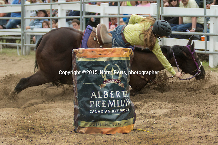 The RAM Rodeo Tour in Exeter, Ontario, Canada, Aug. 8, 2015.<br /> <br /> &copy;2015, Norm Betts, photographer <br /> 416 460 8743<br /> normbetts@canadianphotographer.com