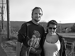 A Man and Woman Standing near the Railroad Tracks In Port Jervis New York