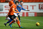 Dundee United v St Johnstone....21.11.15  SPFL,  Tannadice, Dundee<br /> Michael O'Halloran is tackled by Blair Spittal<br /> Picture by Graeme Hart.<br /> Copyright Perthshire Picture Agency<br /> Tel: 01738 623350  Mobile: 07990 594431
