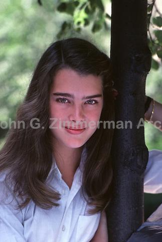 Brooke Shields, Central Park, New York City, 1979.