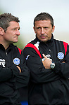 St Johnstone FC.... Season 2010-11.Derek McInnes and Tony Docherty.Picture by Graeme Hart..Copyright Perthshire Picture Agency.Tel: 01738 623350  Mobile: 07990 594431