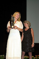 Sept 2, 2002, Montreal, Quebec, Canada<br /> <br /> Maria Bonnevie, receive a  award for the movie I AM DINA,<br />  by Ole Bornedal ,at the closing ceremony of the 2002 Montreal World Films Festival, Sept 2 2002, in  Montreal, Quebec, Canada<br /> <br /> <br /> Mandatory Credit: Photo by Pierre Roussel- Images Distribution. (&copy;) Copyright 2002 by Pierre Roussel <br /> <br /> NOTE : <br />  Nikon D-1 jpeg opened with Qimage icc profile, saved in Adobe 1998 RGB<br /> .Uncompressed  Uncropped  Original  size  file availble on request.