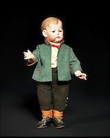 BNPS.co.uk (01202 558833)<br /> Pic: Bonhams/BNPS<br /> <br /> ***Please Use Full Byline***<br /> <br /> Kammer &amp; Reinhardt 115 Bisque Head Toddler. <br /> <br /> <br /> A creepy collection of almost 100 'lifelike' dolls modelled on children has emerged for sale with a whopping half a million pounds price tag. <br /> <br /> The eerie-looking toys were made in Germany in the early 20th century as dollmakers strived to produce dolls with realistic human features.<br /> <br /> The collection of 92 dolls, which includes some of the rarest ever made, has been pieced together by a European enthusiast over the past 30 years.<br /> <br /> It is expected to fetch upwards of &pound;500,000 when it goes under the hammer at London auction house Bonhams tomorrow (Weds).