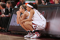 STANFORD, CA - NOVEMBER 20:  JJ Hones and Rosalyn Gold-Onwude of the Stanford Cardinal during Stanford's 84-46 win over the University of New Mexico on November 20, 2008 at Maples Pavilion in Stanford, California.
