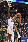 MILWAUKEE, WI - MARCH 16:  Vermont Catamounts guard Trae Bell-Haynes (2) goes up for a basket under Purdue Boilermakers forward Caleb Swanigan (50) during the first half of the 2017 NCAA Men's Basketball Tournament held at BMO Harris Bradley Center on March 16, 2017 in Milwaukee, Wisconsin. (Photo by Jamie Schwaberow/NCAA Photos via Getty Images)