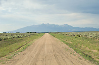 Deserted dirt road in New Mexico