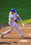 23 February 2013: New York Mets' infielder Brian Bixler in action during a Spring Training Game against the Washington Nationals at Tradition Field in Port St. Lucie, Florida. The Mets defeated the Nationals 5-3 in their Grapefruit League Opening Day game. Mandatory Credit: Ed Wolfstein Photo *** RAW (NEF) Image File Available ***