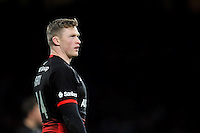 Chris Ashton of Saracens looks on during a break in play. Aviva Premiership match, between Saracens and Worcester Warriors on November 28, 2015 at Twickenham Stadium in London, England. Photo by: Patrick Khachfe / JMP