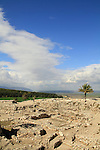 A view of the temple area and the High Place from the Bronze period at Tel Megiddo, a World Heritage Site