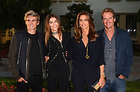 "LOS ANGELES, CA - AUGUST 31: Presley Walker Gerber, Kaia Gerber, Cindy Crawford, Rande Gerber at the ""Sister Cities"" Los Angeles Premiere at Paramount Studios in Los Angeles, California on August 31, 2016. Credit: David Edwards/MediaPunch"