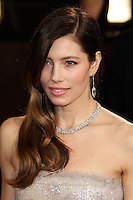 HOLLYWOOD, LOS ANGELES, CA, USA - MARCH 02: Jessica Biel at the 86th Annual Academy Awards held at Dolby Theatre on March 2, 2014 in Hollywood, Los Angeles, California, United States. (Photo by Xavier Collin/Celebrity Monitor)